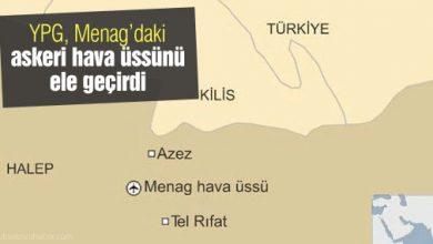 Menag hava üssü YPG denetiminde