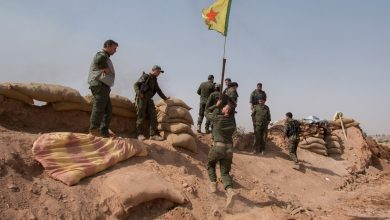 YPG militants in northern Syria